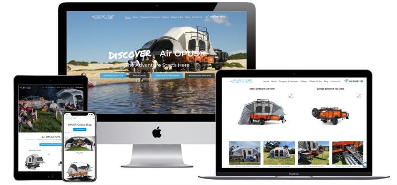 Opus Camper Custom Web Design - Service - JD Stride